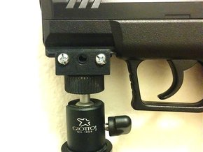 Picatinny Monopod and Tripod Mount Adapter in Black Natural Versatile Plastic