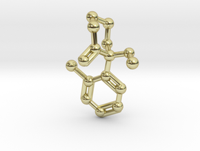 Ketamine Molecule Keychain Necklace in 18K Gold Plated