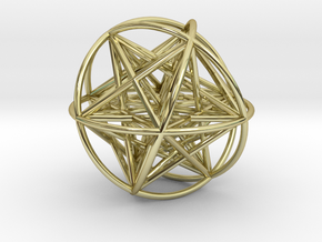 Metatrons Cubeoctahedral Sphere Connections 80mm in 18K Gold Plated