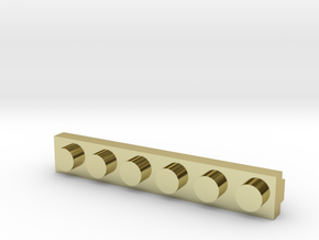 Brick Tie Clip-6 Stud in 18K Gold Plated