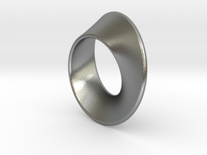 Moebius Band 1 cm in Natural Silver