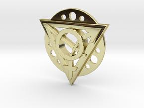 Transgender Warrior Pendant (flanged) in 18K Gold Plated