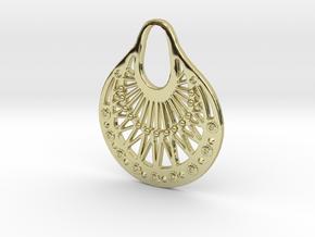 Ornamental Pendant / Earring in 18K Gold Plated