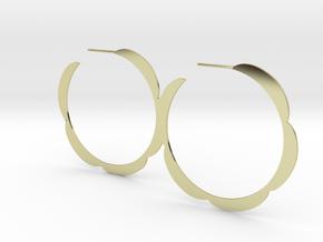 Flower hoop earrings in 18K Gold Plated