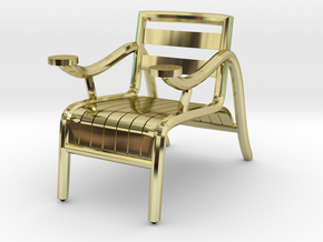 "ThinkingMan Chair - 1/4"" Model in 18k Gold Plated Brass: 1:48 - O"