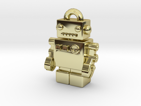 """Bling Bob"" Gold Pendant Robot in 18K Gold Plated"