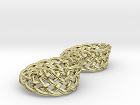 Woven Mobius Earrings in 18K Gold Plated