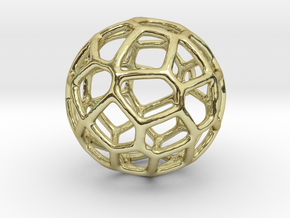 Organic Sphere Pendant in 18K Gold Plated
