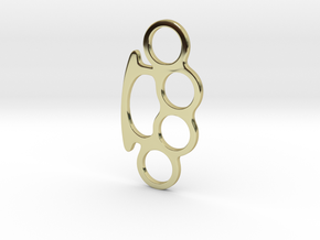 Knuckle Duster Key Ring in 18K Gold Plated
