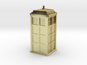 Doctor Who Tardis in 18K Gold Plated