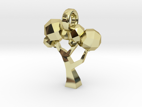Low Poly Tree pendant in 18K Gold Plated