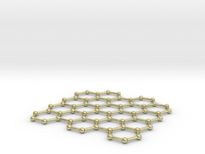 Graphene Lattice in 18K Gold Plated