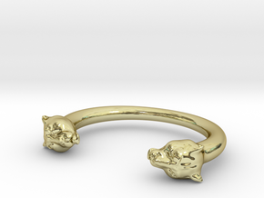 bracelet black panther in 18K Gold Plated