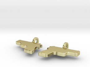 P229 EARRING DANGLES (FIT 14 GAUGE JEWELRY) in 18K Gold Plated
