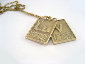 Chemical Luv Pendant in Polished Brass