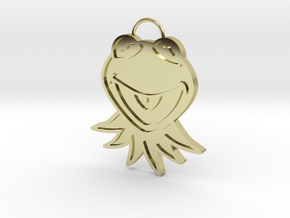Gold Kermit Pendant in 18K Gold Plated
