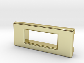 Screen Cradle - Rectangle with Filet Edges in 18K Gold Plated