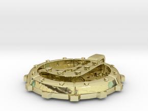 "Steampunk Monogram Pendant ""J"" in 18K Gold Plated"