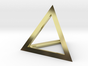 Triangle Pendant - thick in 18K Gold Plated