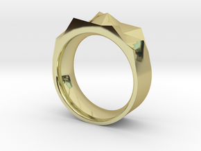 Triangulated Ring - 16mm in 18K Gold Plated
