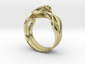 Lotus Ring in 18K Gold Plated