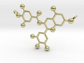Green Tea Molecule in 18K Gold Plated