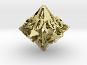 Pinwheel Die10 Decader Ornament in 18K Gold Plated