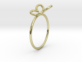 Butterfly Ring in 18K Gold Plated