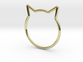 "Cat Ear Ring ""Büsi"" in 18K Gold Plated"