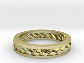 GBW2 Lds Wedding Band in 18K Gold Plated