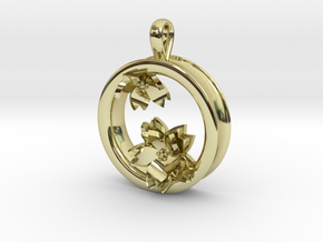 Cherry Blossom 1 Inch Pendant in 18K Gold Plated