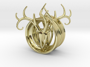1 & 15/16 inch Antler Tunnels in 18K Gold Plated
