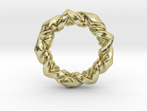 Anneaux pendant 35mm in 18K Gold Plated