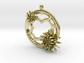 2 Inch Chrysanthemum Tunnel Pendant in 18K Gold Plated