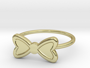 Midi Bow Ring, subtle and chic by titbit in 18K Gold Plated