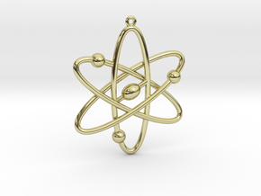 Atom Keychain or Pendant in 18K Gold Plated