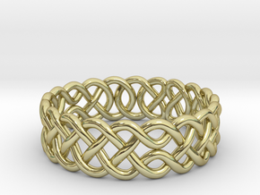 Celtic Ring - 17mm ⌀ in 18K Gold Plated