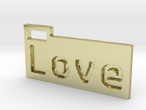 Love 3D in 18K Gold Plated