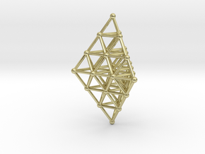 Pyramid Pendant in 18K Gold Plated