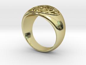 Tiki Man mask ring in 18K Gold Plated