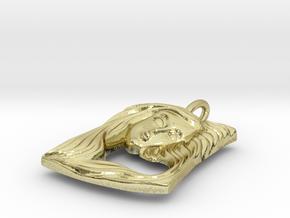 Art Nouveau Lady face pendant in 18K Gold Plated