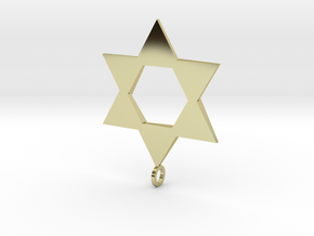 Star Of David in 18K Gold Plated