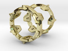 Mystery Ring (19 mm opening) in 18K Gold Plated