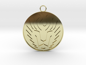 Lion Head Pendant in 18K Gold Plated