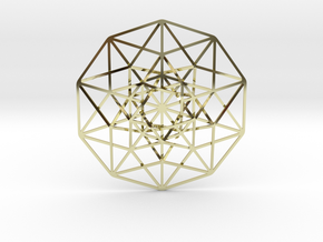 "5D Hypercube 2.75"" in 18K Gold Plated"