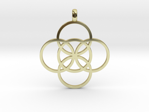 FIVE FOLD Symbol Jewelry Pendant in 18K Gold Plated