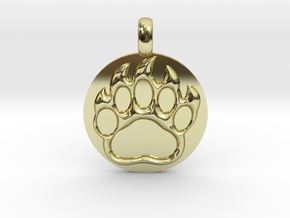 BEAR PAWN Animal Totem Jewelry pendant  in 18K Gold Plated
