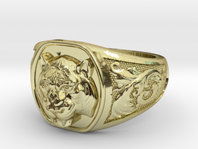 Tiger ring # 3 in 18K Gold Plated