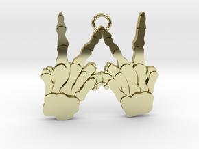 Skeleton Hands V4 Solid Gold in 18K Gold Plated