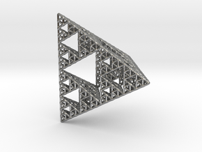 Sierpinski Pyramid; 4th Iteration in Natural Silver